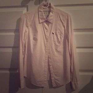 Abercrombie & Fitch Pink Button Up Shirt